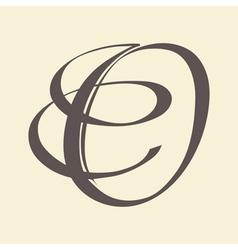 letter O vector image