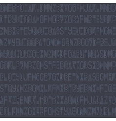 Modern seamless pattern with linear letters vector