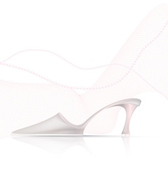 Abstract light shoe vector