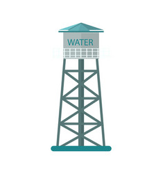 agriculture water tower icon vector image vector image