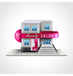 Beauty salon building isolated vector image