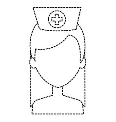 Beutiful nurse shirtless avatar character vector