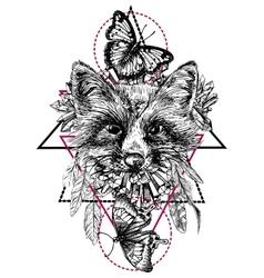 Boho style animal vector