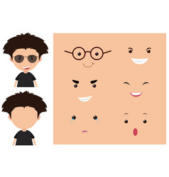 boy and different emotions on the face vector image