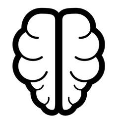 Brain the black color icon vector