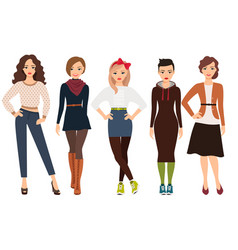 Casual fashion for woman vector