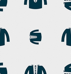 Casual jacket icon sign seamless pattern with vector