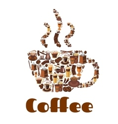 Coffee cup poster for drink and food theme design vector image vector image