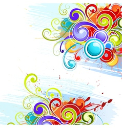 colorful abstract designs vector image vector image