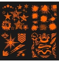 Design elements on black background - big vector image vector image