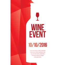 design for wine event vector image