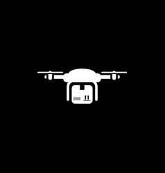 drone delivery icon flat design vector image