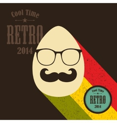 Easter egg in retro style vector