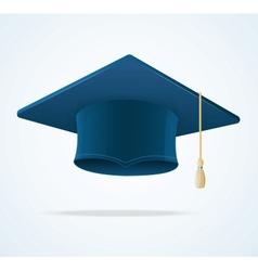 Education Cup on White Graduation Cap vector image vector image