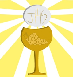 First communion eucharist 3 vector