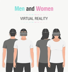 Glasses of virtual reality vector image vector image