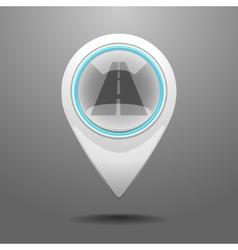 Glossy blacktop icon vector