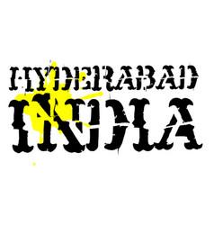 Hyderabad typographic stamp vector
