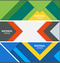 Material design banners vector