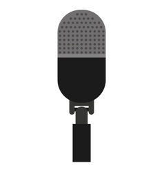 microphone stand isolated icon design vector image vector image