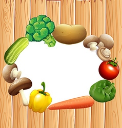 Paper design with fresh vegetables vector