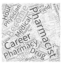 Pharmacist career an inside look word cloud vector