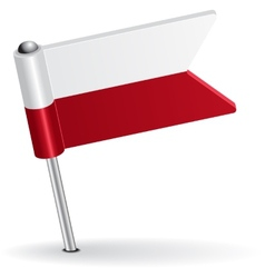 Polish pin icon flag vector image vector image