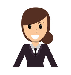 portrait character woman female vector image vector image