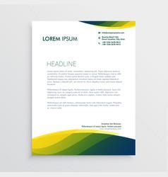 professional letterhead design vector image vector image