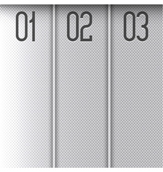 Progress background metallic banners vector image