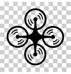 Quadcopter screw rotation icon vector