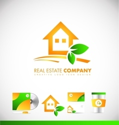 Real estate house logo icon design vector