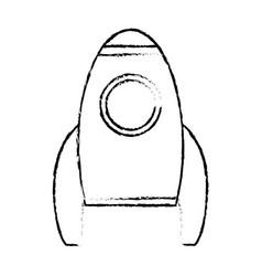 rocket transport space vehicle sketch vector image vector image
