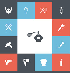 Set of 13 editable coiffeur icons includes vector