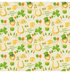 St Patricks Day pattern vector image