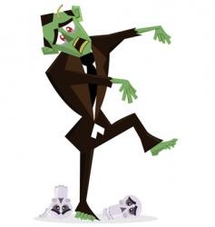 zombie halloween vector image vector image