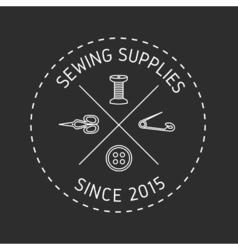Sewing logo 2 vector image