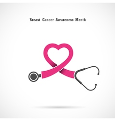 Breast cancer awareness logo vector