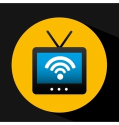 Tv picture internet connection icons design vector
