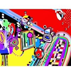 original of abstract artwork digital vector image