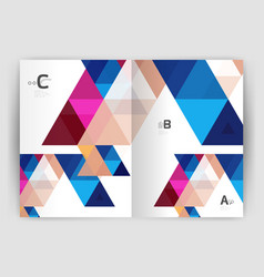 print triangle modern print template vector image