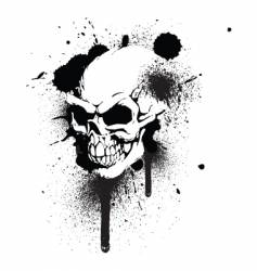 graffiti skull vector image
