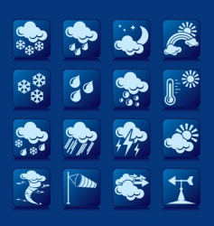 Weather button vector