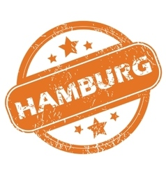 Hamburg rubber stamp vector