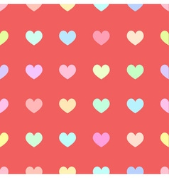 Cute pastel rainbow or colorful polka dot in heart vector