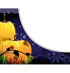 Ripe autumn pumpkins vector