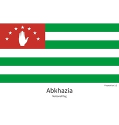 National flag of abkhazia with correct proportions vector