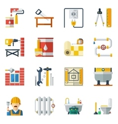 Home repair flat icons collection vector