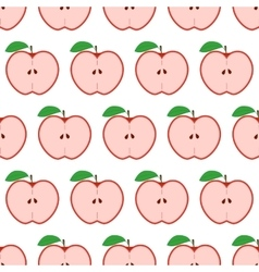 Colorful seamless pattern with apples on the white vector