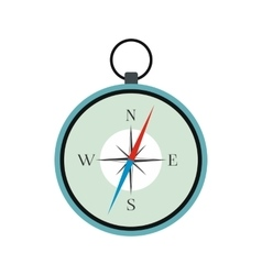 Compass icon flat vector
